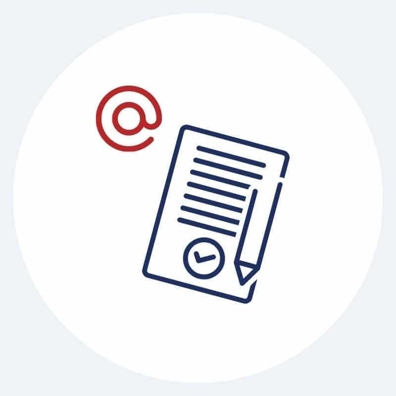 Prześlemy Ci drogą mailową umowę